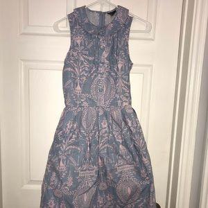 Dresses & Skirts - Retrolicious Blue and Pale Pink Dress